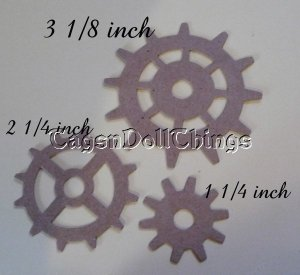 24 gears 3 of each size