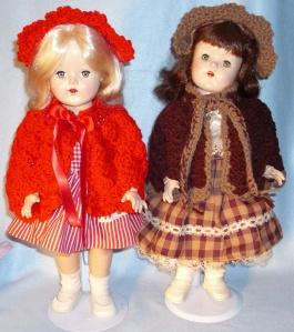 ebay brown n red cape n hat