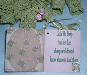 litttle bo peep green booklet 3