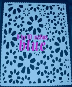floral mat blue