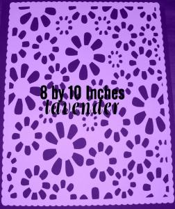 floral mat lavender