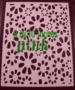floral mat pink