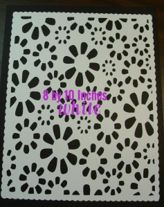 floral mat white
